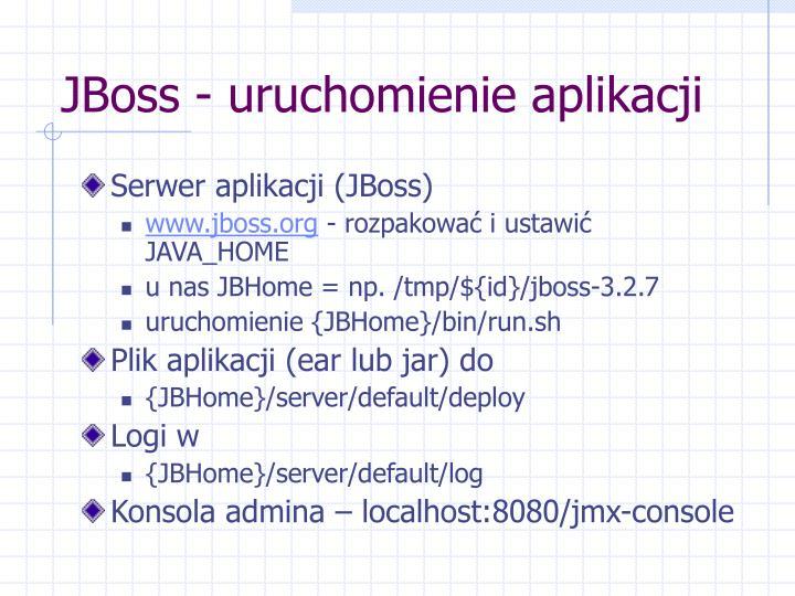 JBoss - uruchomienie aplikacji