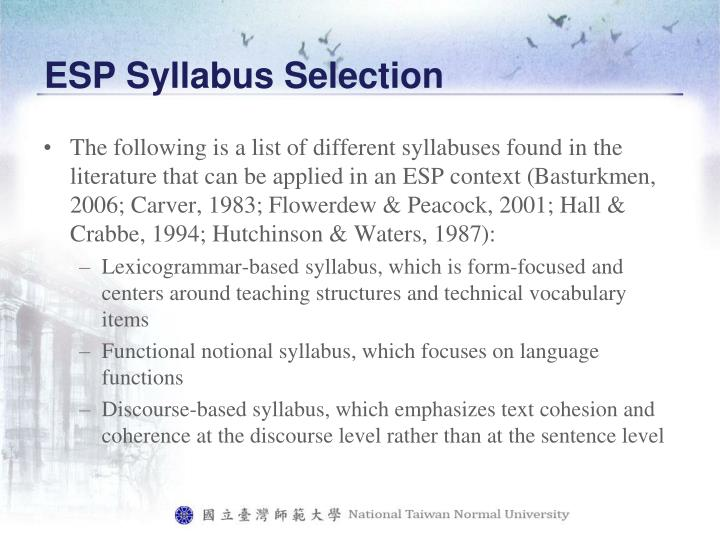 summary and needs analysis of esp English for specific purposes world, issue 4, 2008, wwwesp-worldinfo introduction to needs analysis mehdi haseli songhori 1 introduction to needs analysis.