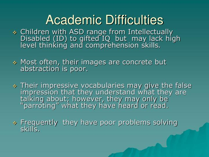 Academic Difficulties
