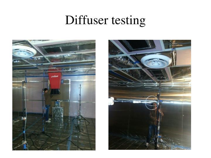 Diffuser testing