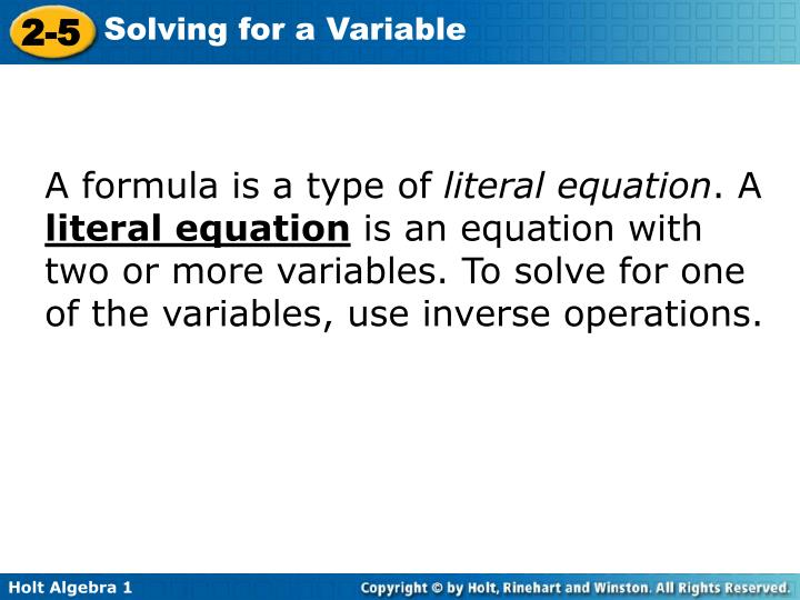 A formula is a type of