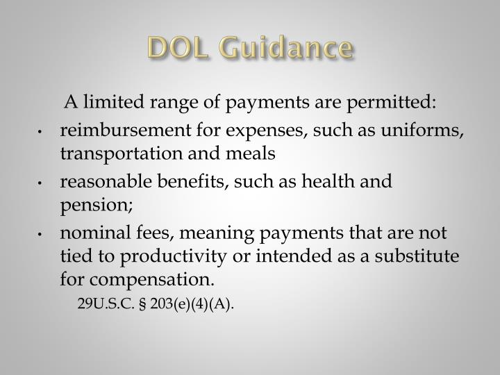 DOL Guidance