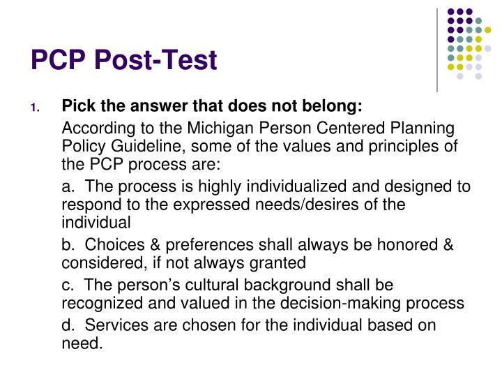 PCP Post-Test