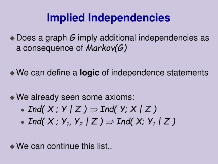 Implied Independencies