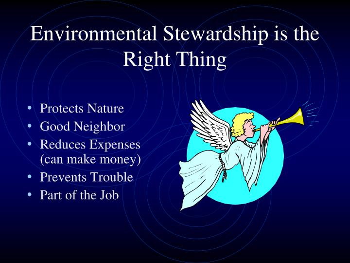 Environmental Stewardship is the Right Thing