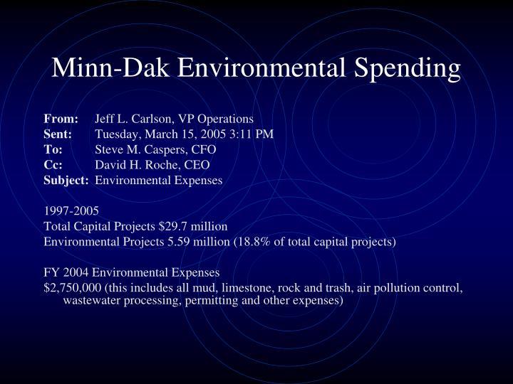 Minn-Dak Environmental Spending
