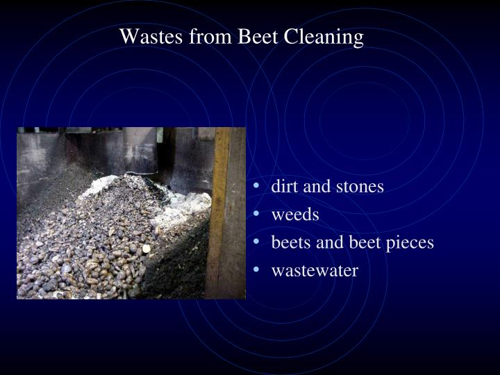 Wastes from Beet Cleaning