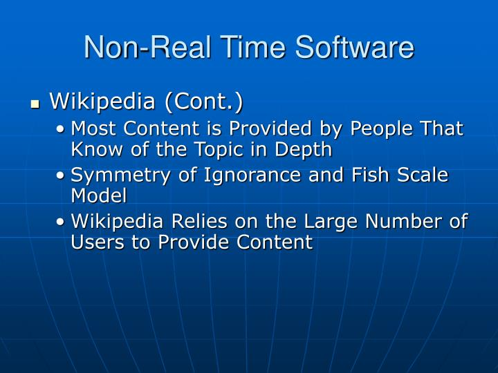 Non-Real Time Software