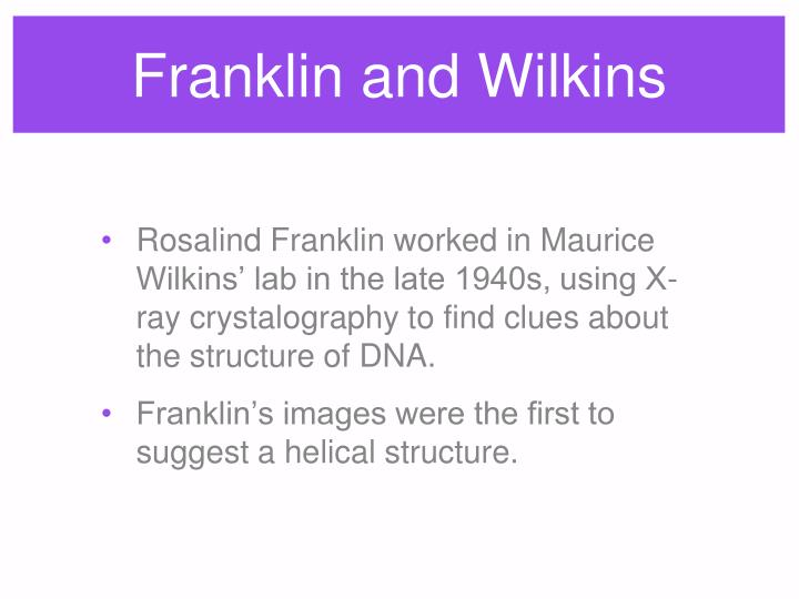 Franklin and Wilkins