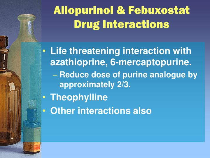 Allopurinol & Febuxostat Drug Interactions