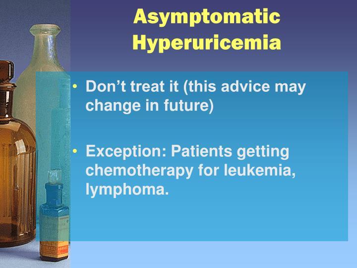Asymptomatic Hyperuricemia