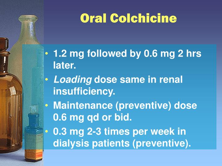 Oral Colchicine