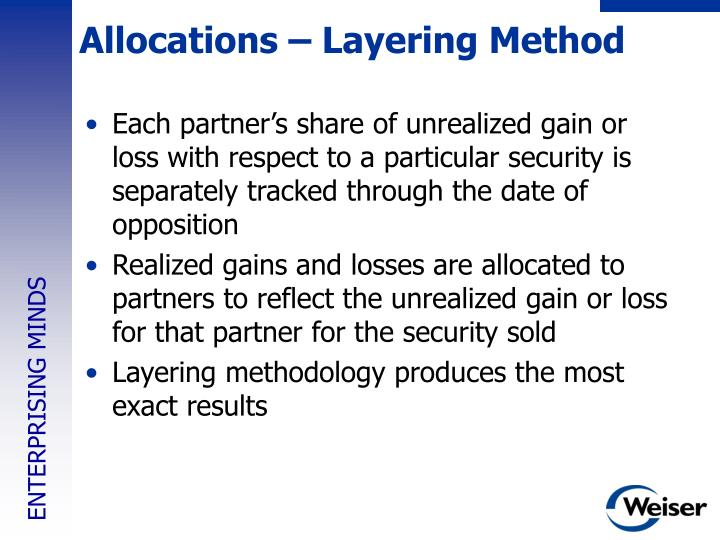 Allocations – Layering Method