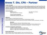 anees t din cpa partner