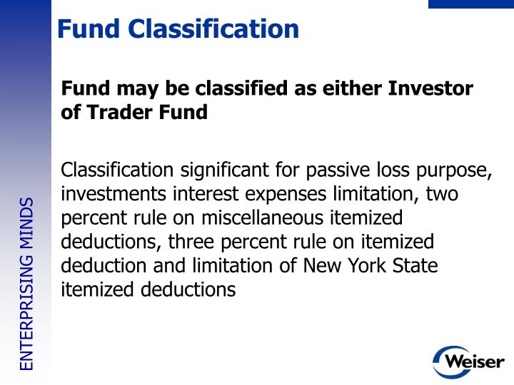 Fund Classification