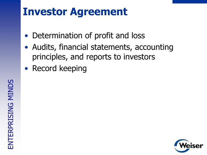 Investor Agreement