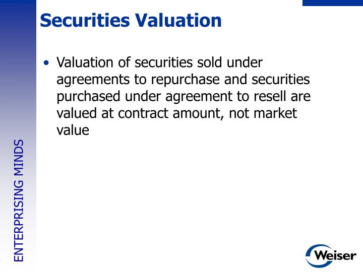 Securities Valuation
