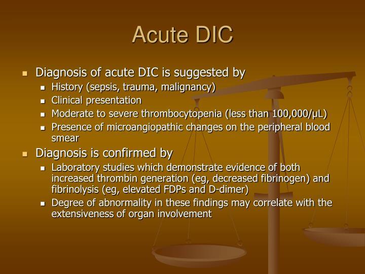 Acute DIC