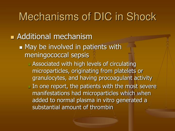 Mechanisms of DIC in Shock