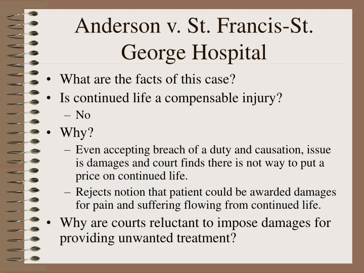 Anderson v. St. Francis-St. George Hospital