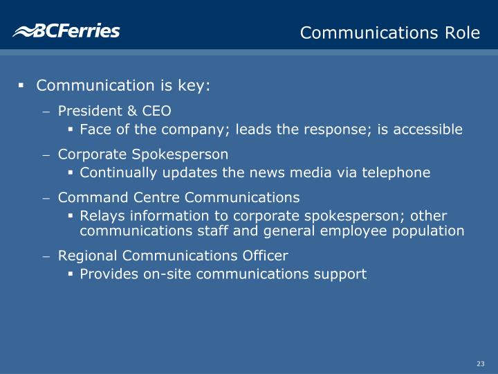 Communications Role