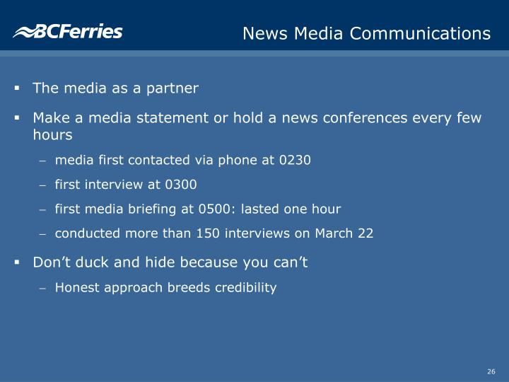 News Media Communications