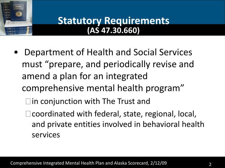 Statutory requirements as 47 30 660