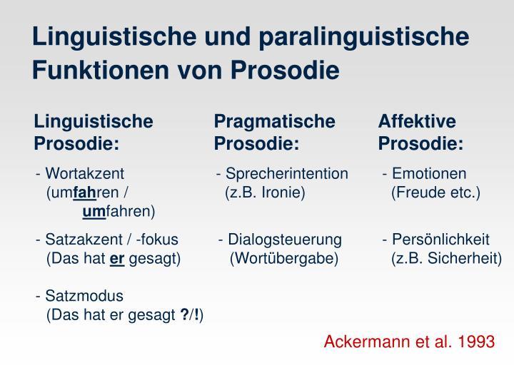 Linguistische        PragmatischeAffektive