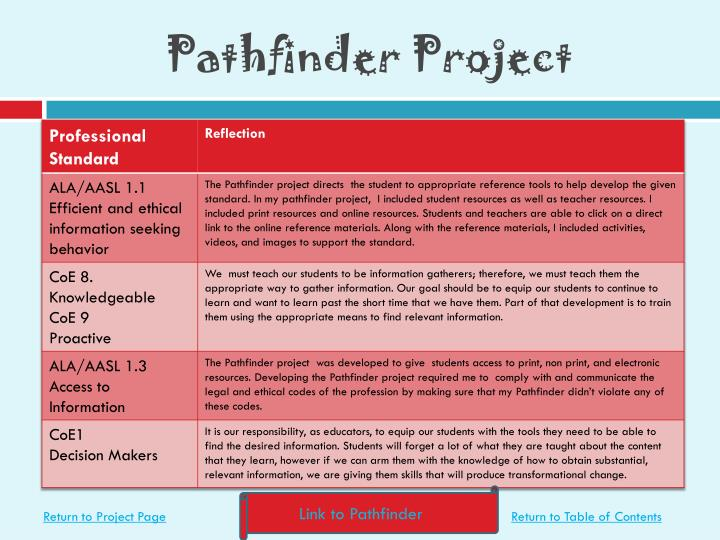 pathfinder research paper