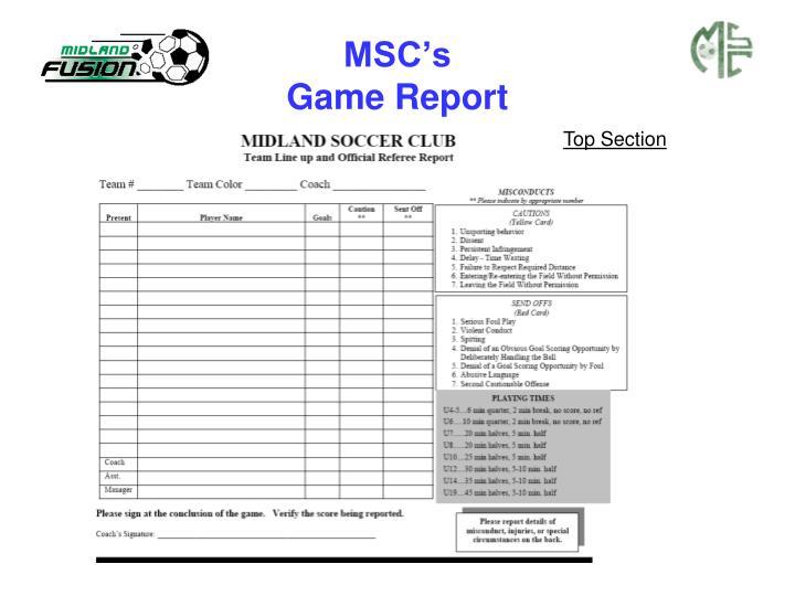 MSC's