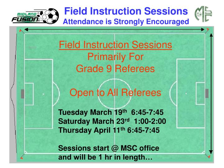 Field Instruction Sessions