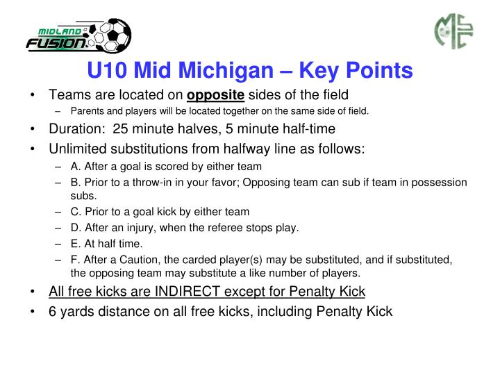 U10 Mid Michigan – Key Points