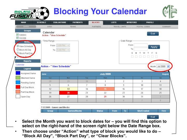 Blocking Your Calendar