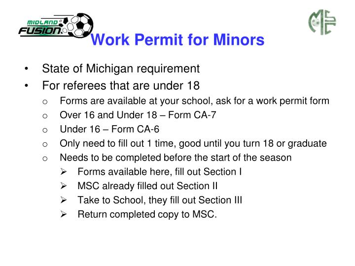 Work Permit for Minors