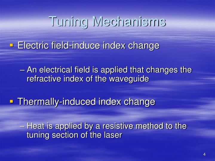 Tuning Mechanisms