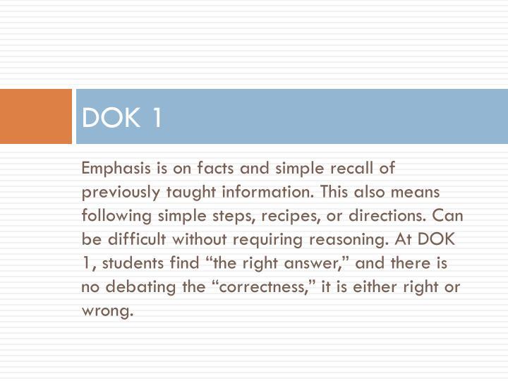 DOK 1