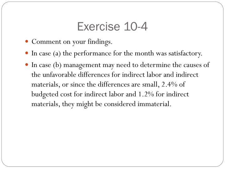 Exercise 10-4