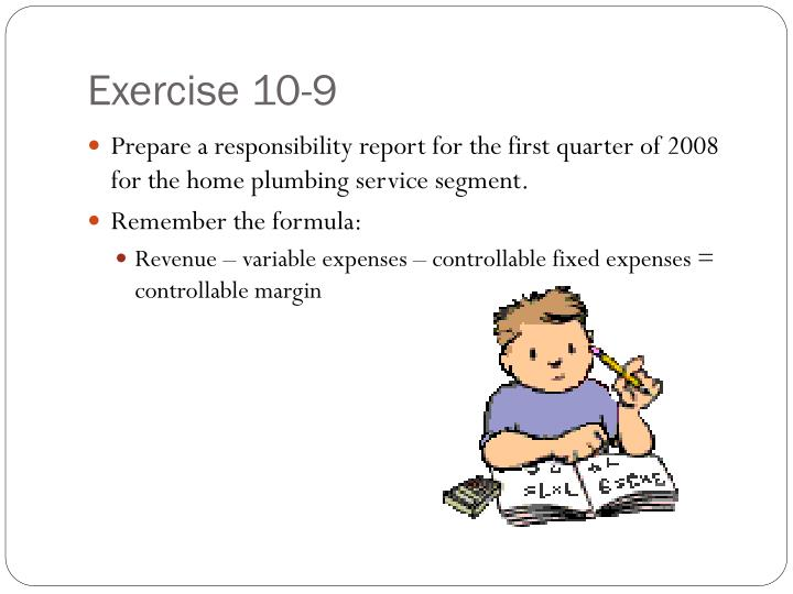 Exercise 10-9
