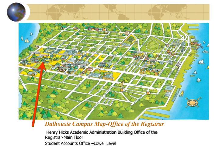 Dalhousie Campus Map-Office of the Registrar
