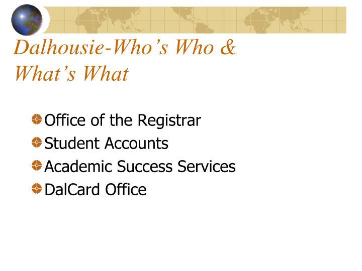 Dalhousie-Who's Who &