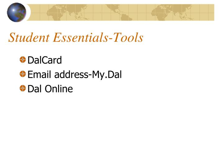 Student Essentials-Tools