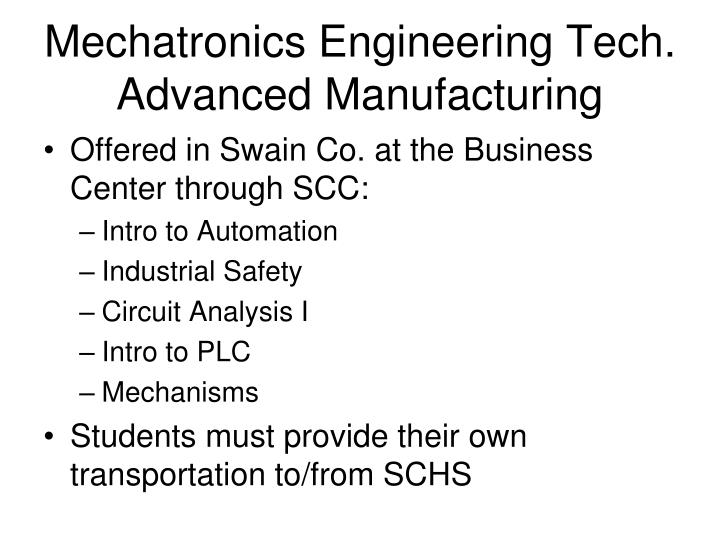 Mechatronics Engineering Tech.