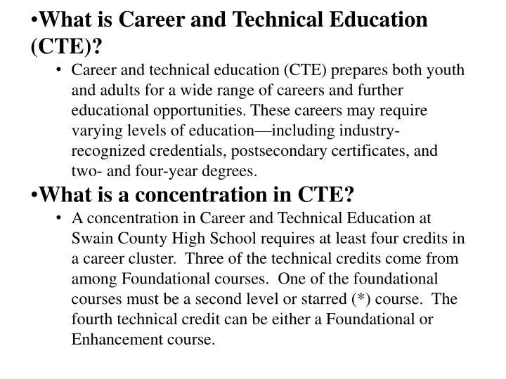 What is Career and Technical Education (CTE)?