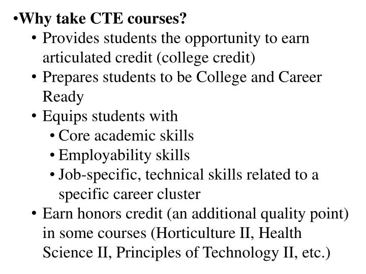 Why take CTE courses?