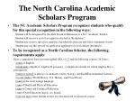 the north carolina academic scholars program