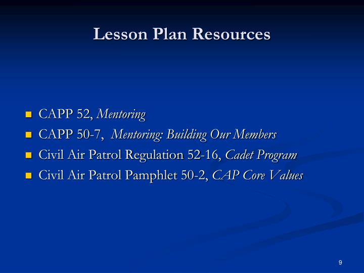 Lesson Plan Resources