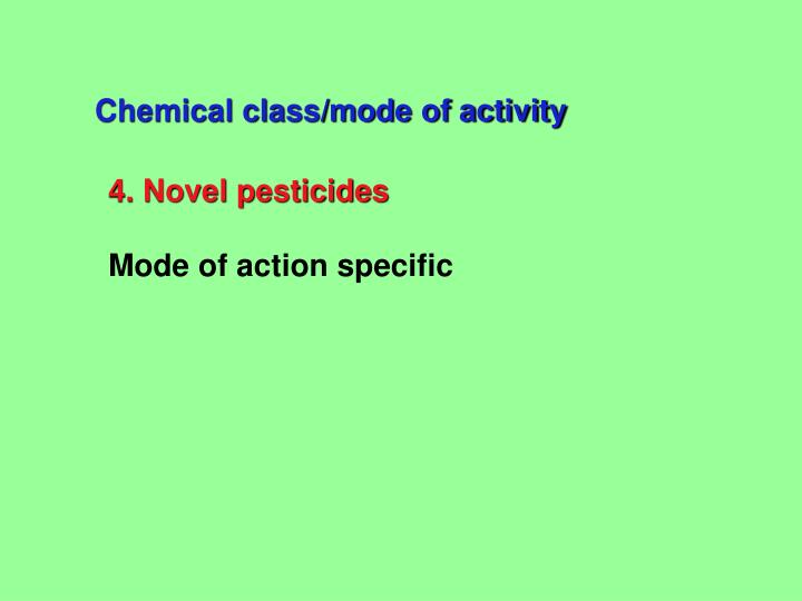 Chemical class/mode of activity