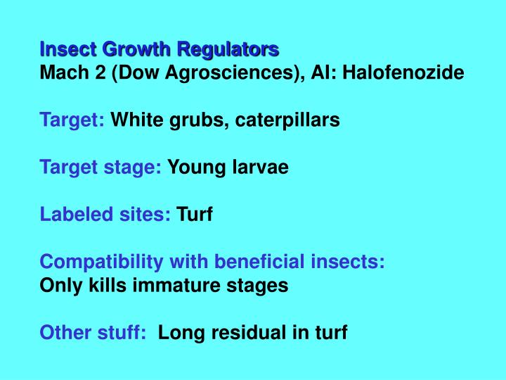 Insect Growth Regulators