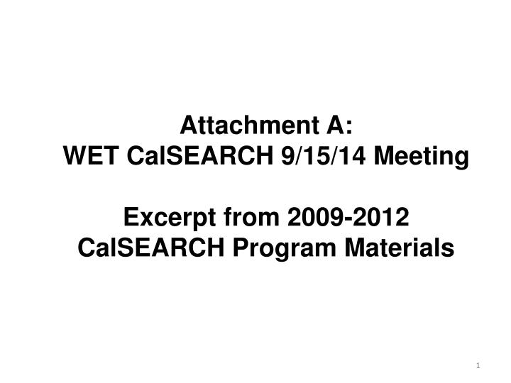 Attachment A: