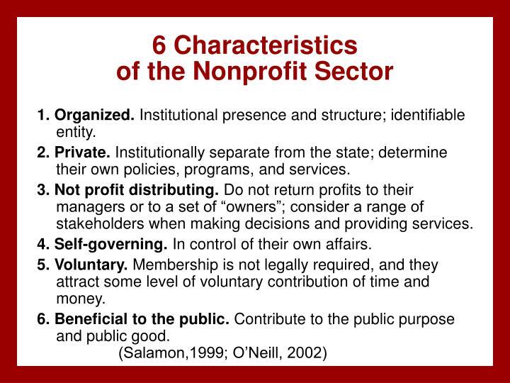 6 Characteristics